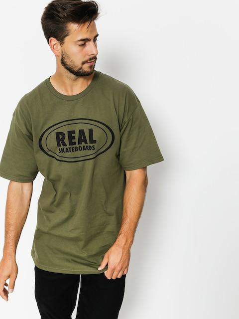 Real T-Shirt Og Oval (green/black)
