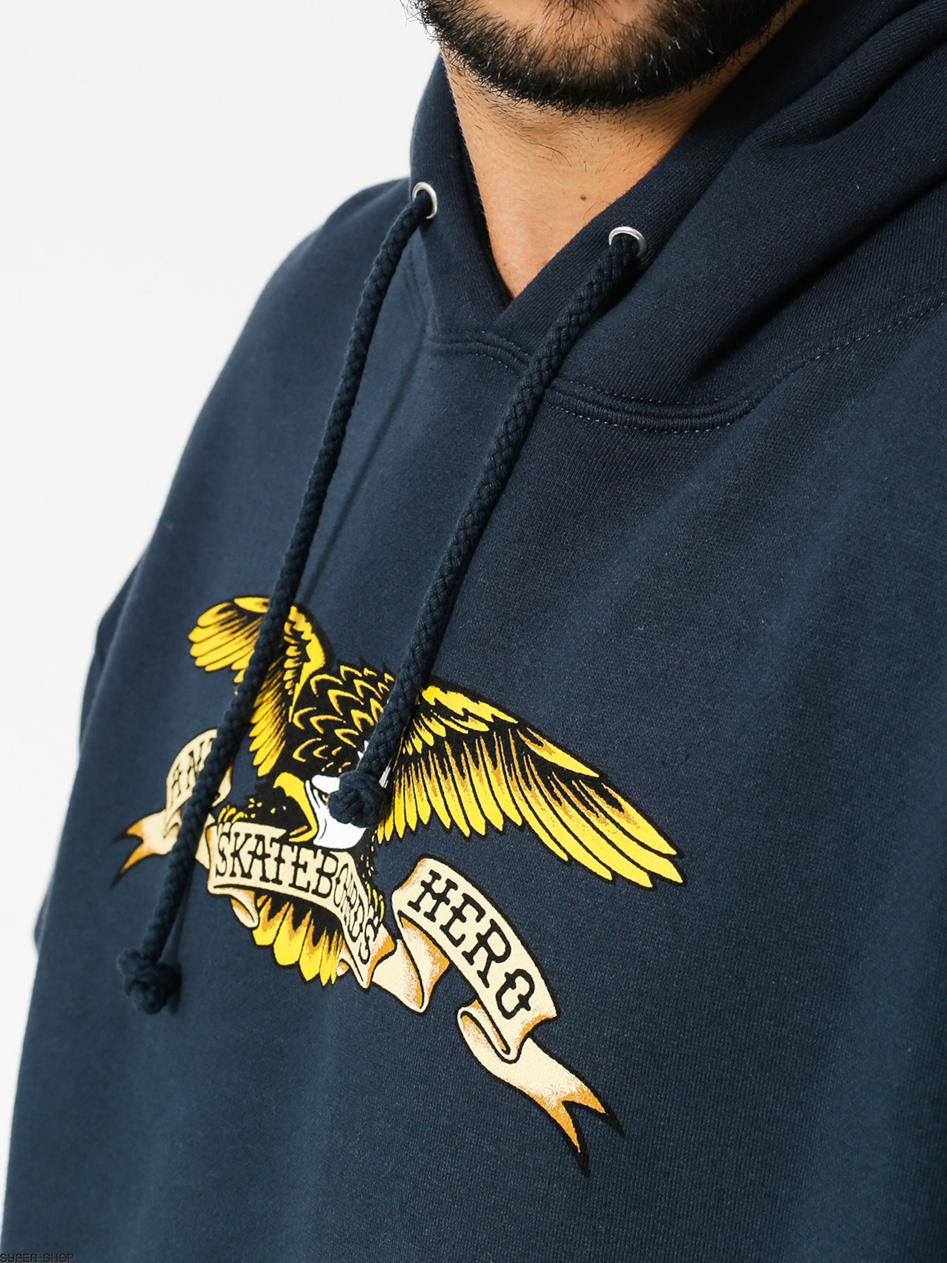 3749d9be45 Antihero Hoodie Eagle HD (navy)