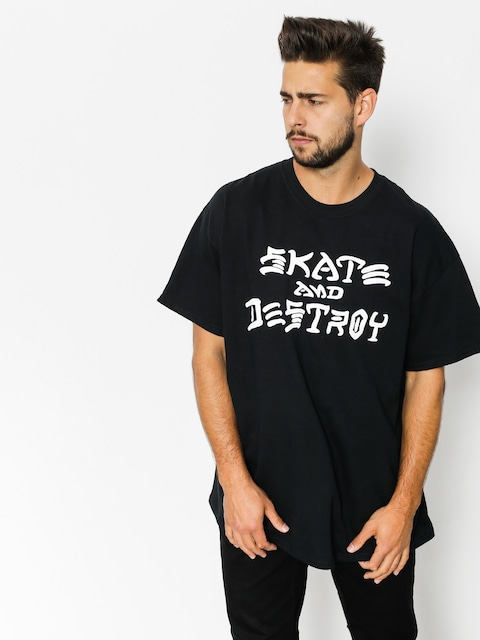 Thrasher T-shirt Skate And Destroy (black)