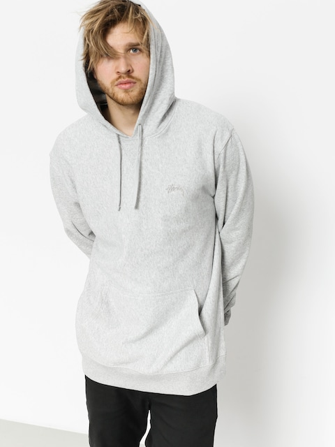 Stussy Hoody Stock Terry HD (grey heather)