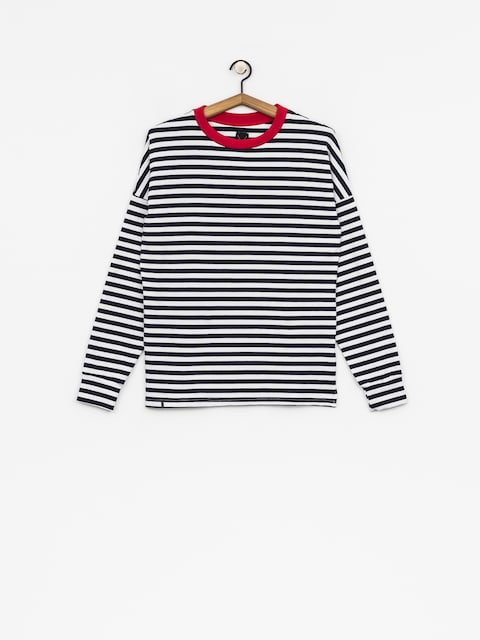 The Hive Longsleeve Oversized Wmn (red/navy/white)