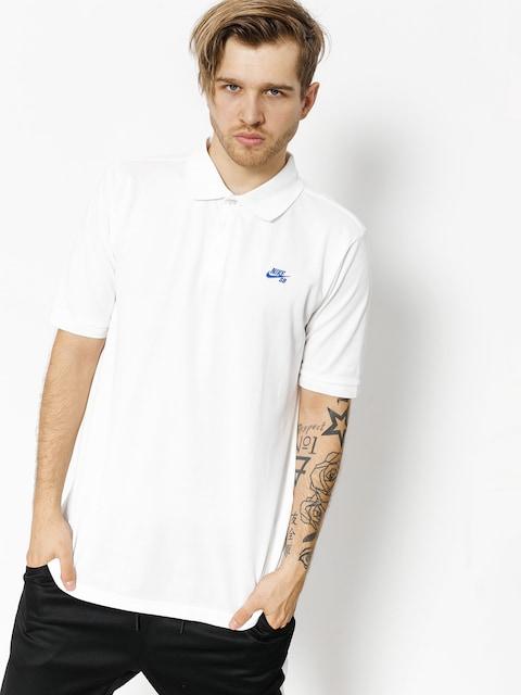 Nike SB Polo t-shirt Sb Dri Fit Pique (white/hyper royal)