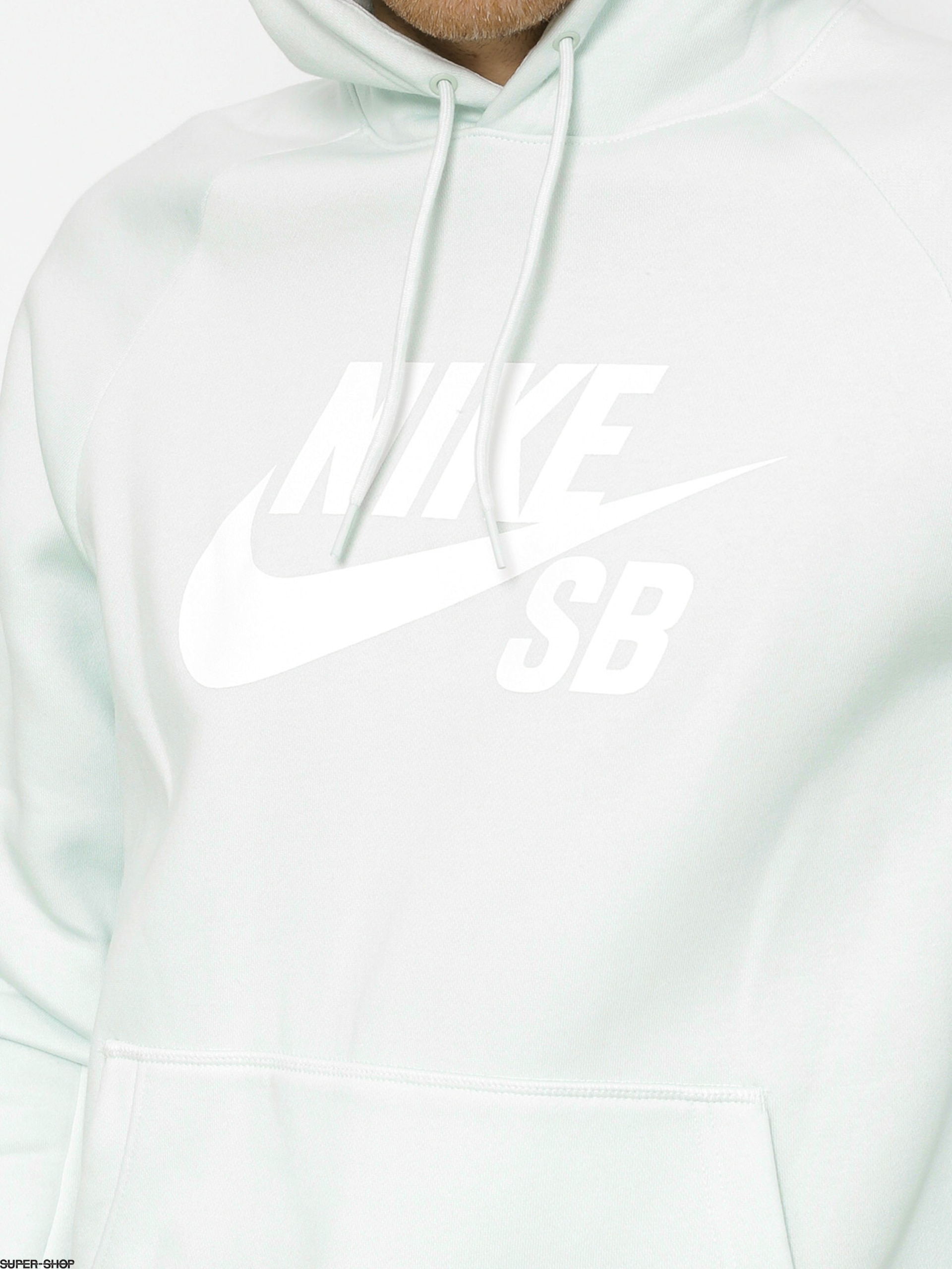 Nike SB Icon Pullover Hoodie Barely GreyWhite