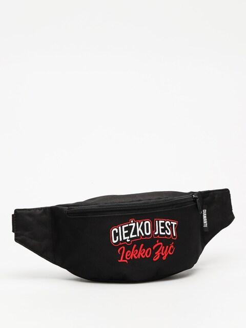 Diamante Wear Bum bag Ciężko Jest Lekko Żyć (black/white/red)
