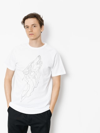 Majesty T-shirt Wolf (white)
