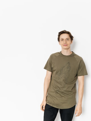 Majesty T-shirt Wolf (army green)