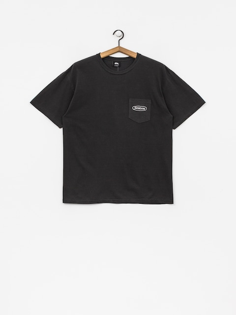 Stussy T-shirt Trucker Pig Dyed Pocket (black)