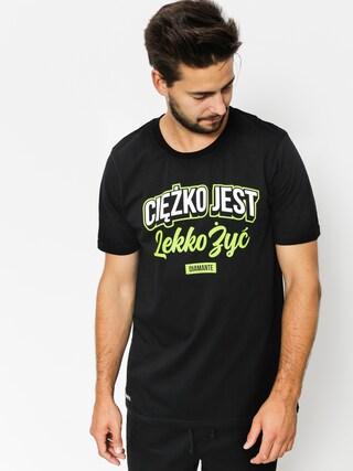 Diamante Wear T-shirt Cieżko Jest Lekko Żyć (black)