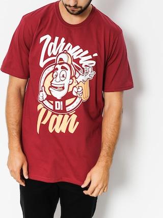 Diamante Wear T-shirt Zdrowie Pau0144 (burgundy)