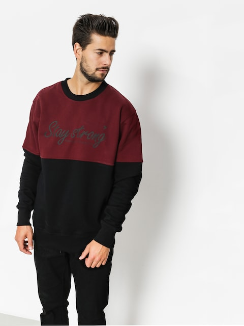 Nervous Sweatshirt Stay (black maroon)