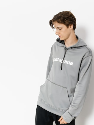 Patagonia Hoodie Text Logo PolyCycle HD (feather grey w/white)