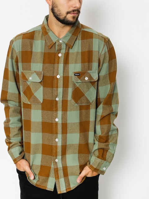 Brixton Hemd Bowery Flannel (grnby)