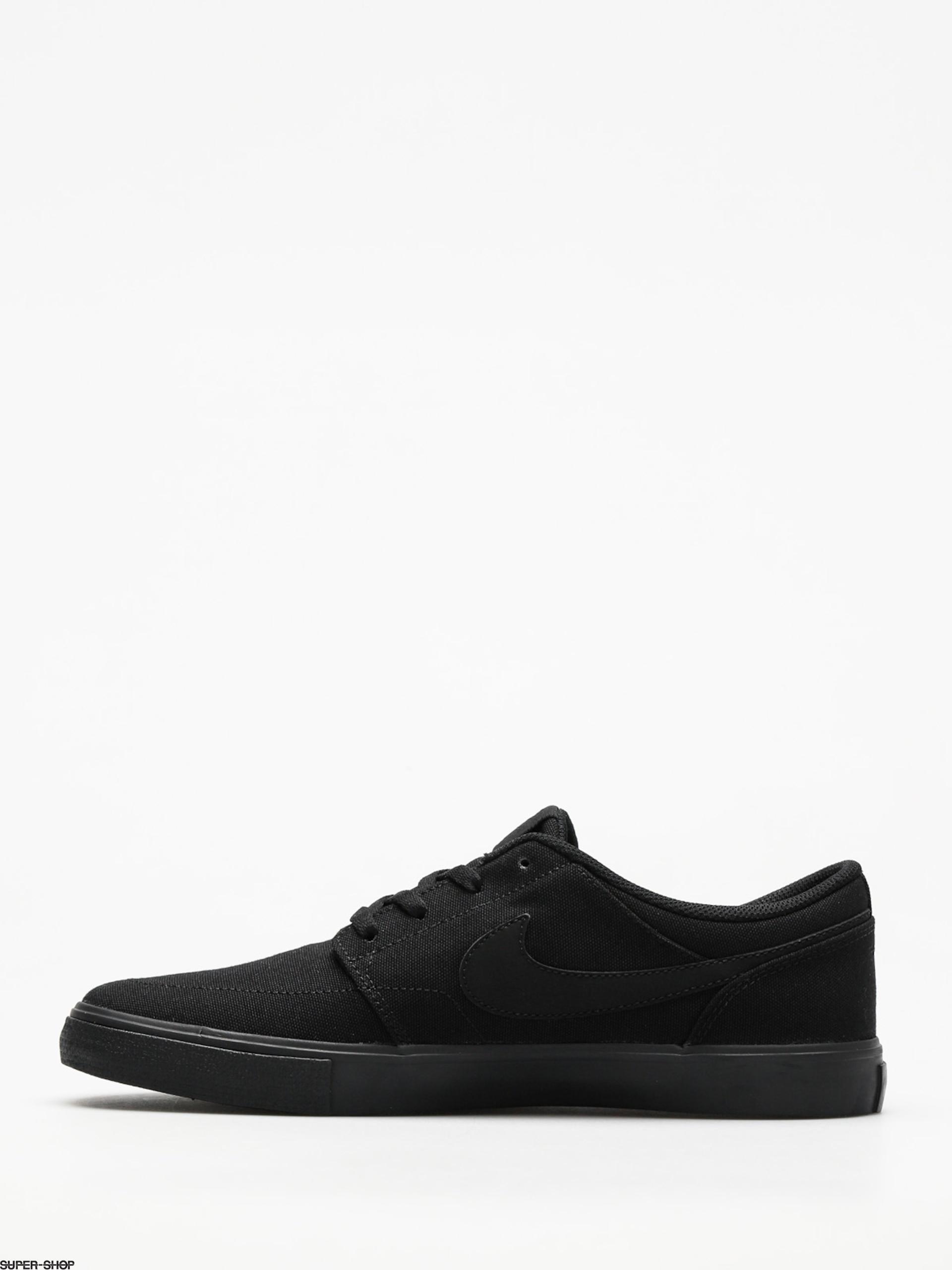 Nike SB Schuhe Portmore II Solar Cnvs (schwarz schwarz) Schnelle lieferung