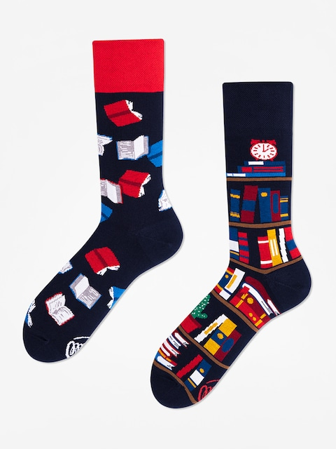 Many Mornings Socken The Book Story (navy/red)