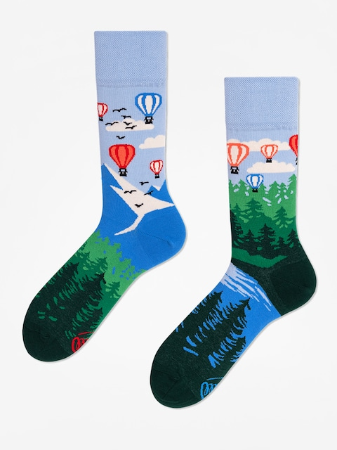 Many Mornings Socks Adventure Balloon (blue/green)