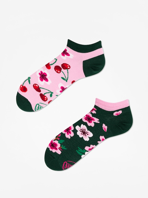 Many Mornings Socken Cherry Blossom Low (pink/green)