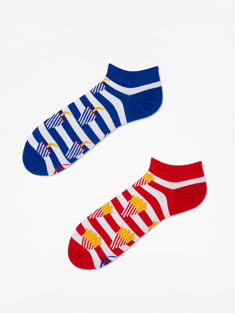 Many Mornings Socks Fries And Soda Low (red/blue)