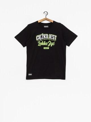 Diamante Wear T-shirt Ciężko Jest Lekko Żyć (black/white/green)