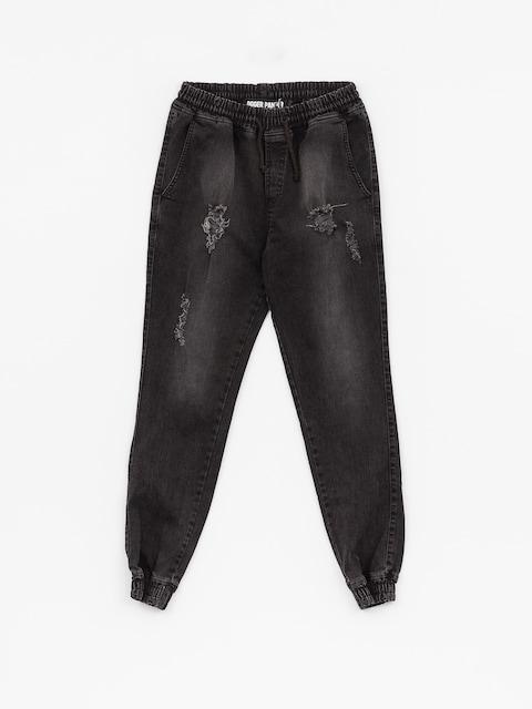 Diamante Wear Hose Rm Jeans Jogger (ripped black jeans)
