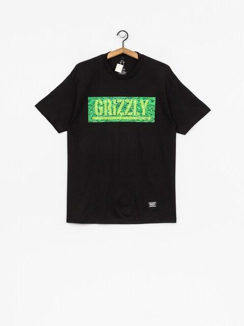 Grizzly Griptape T-shirt Fresh Cut Box Logo (black)