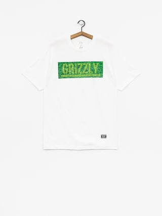 Grizzly Griptape T-shirt Fresh Cut Box Logo (white)