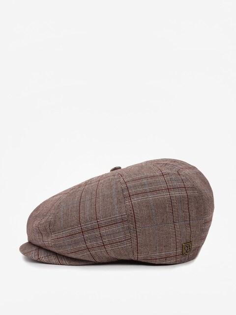 Brixton Flat cap Brood Snap ZD (taupe plaid)