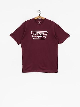 Vans T-Shirt Full Patch (burgundy/white)
