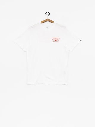 Vans T-Shirt Full Patch Back (white/flame)