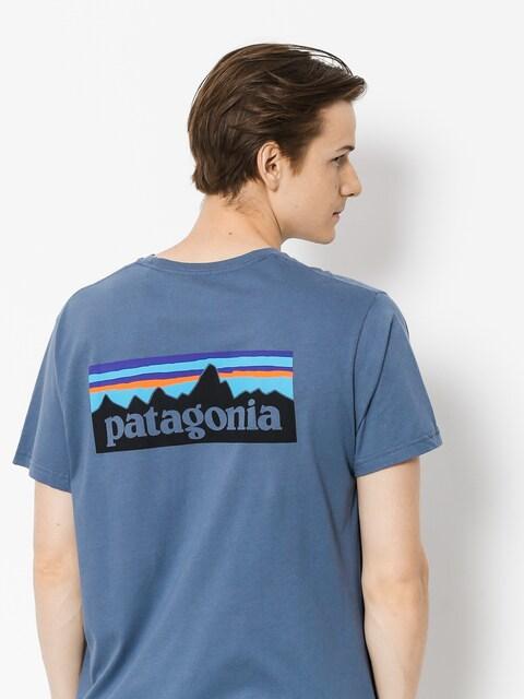 Patagonia T-shirt Logo Organic (dolomite blue)