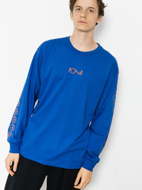 Polar Skate Longsleeve Racing (80s blue)