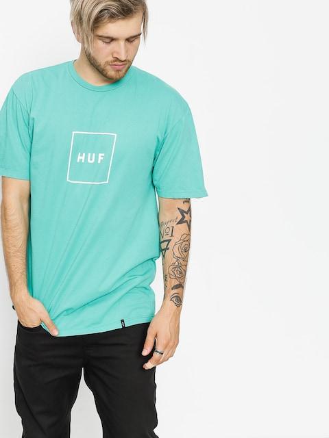 HUF T-shirt Essentials Box Logo (bright aqua)