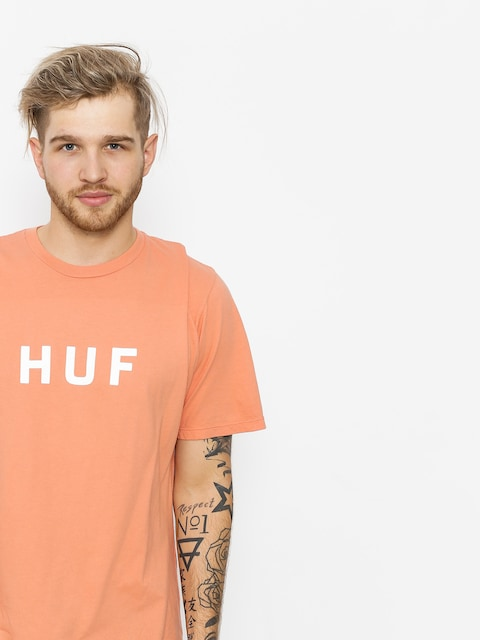 HUF T-Shirt Essentials Og Logo (coral haze)