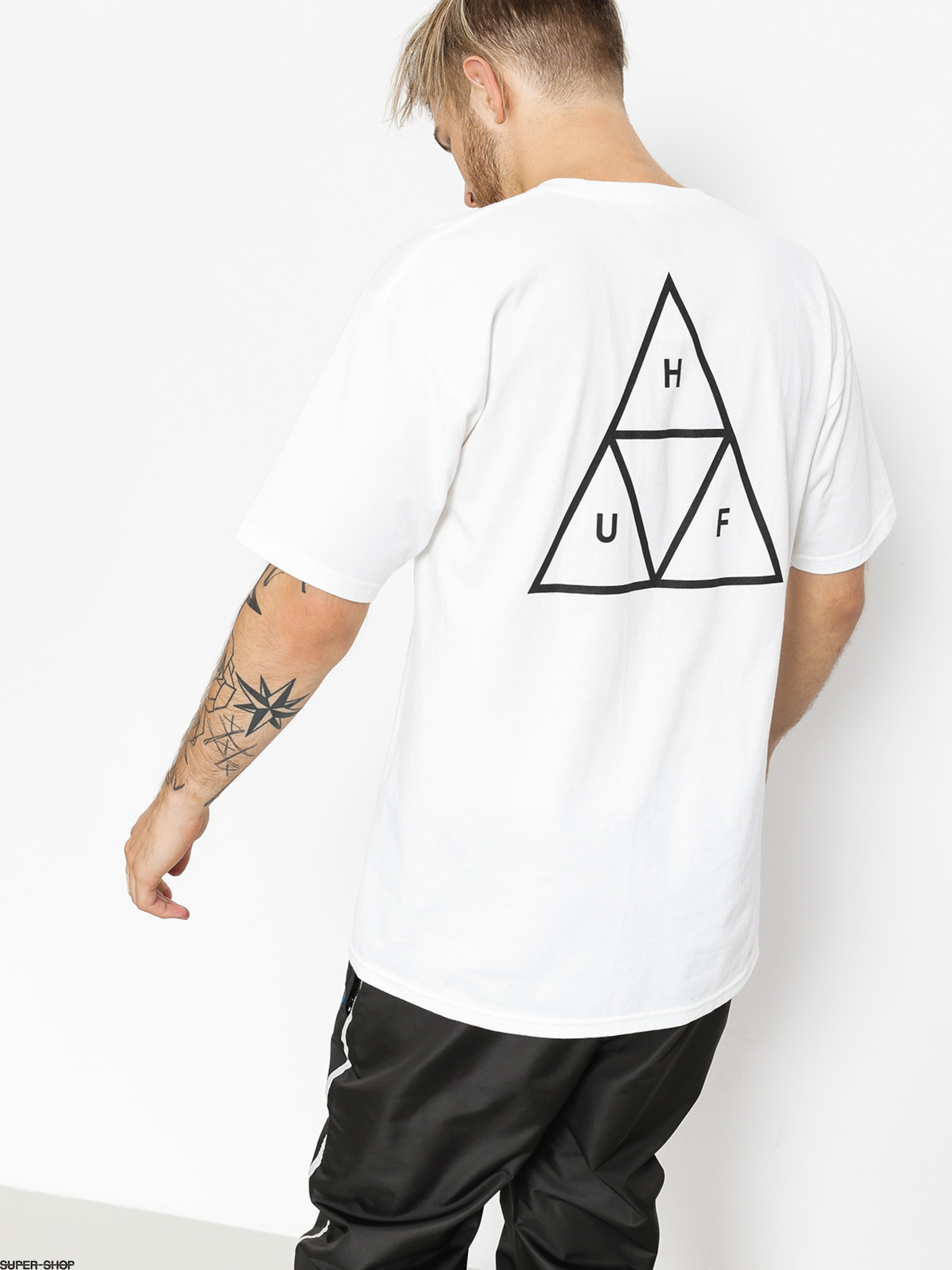 White Huf Essentials TT T Shirt