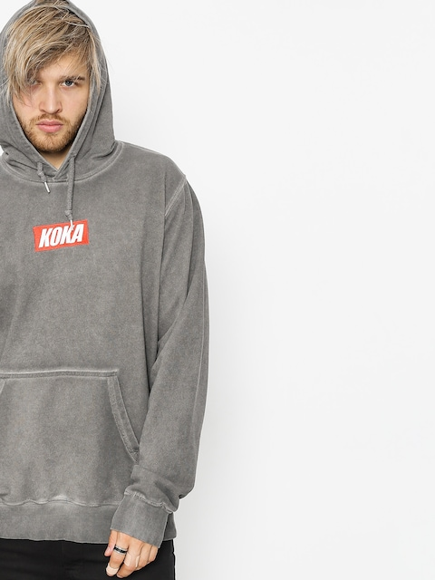Koka Hoodie Mini Boxlogo Prewashed HD (grey)