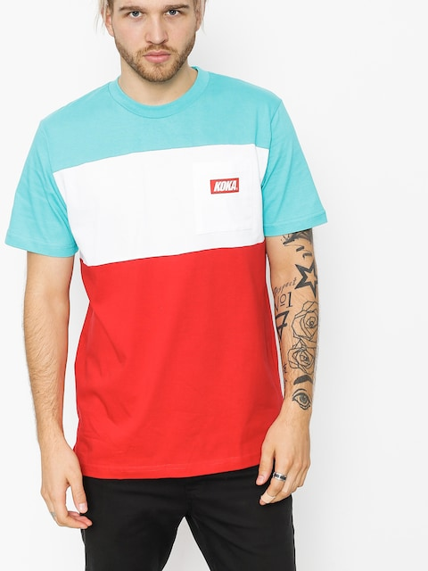 Koka T-shirt Isle (turquoise/white/red)