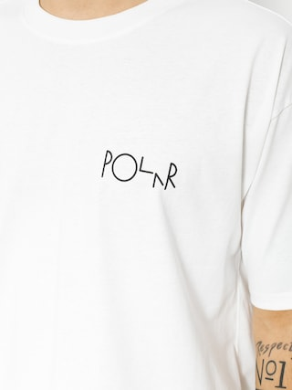 Polar Skate T-shirt Script Logo (white)