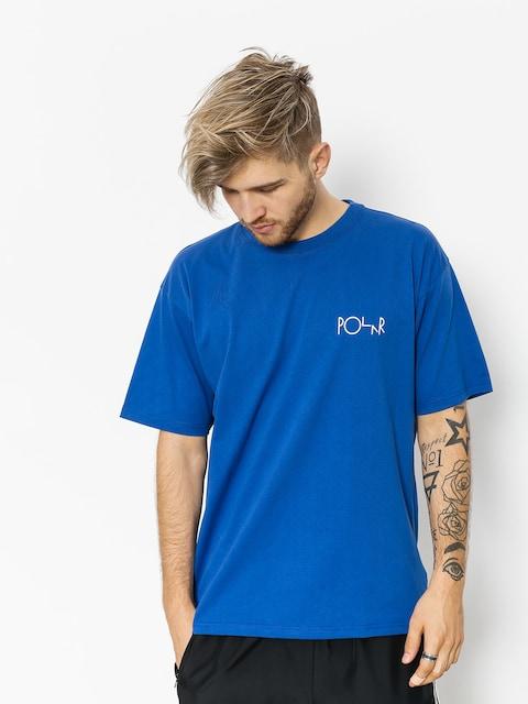 Polar Skate T-Shirt Script Logo (80s blue)