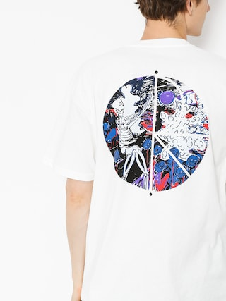 Polar Skate T-Shirt Skeleton Fill Logo (white)