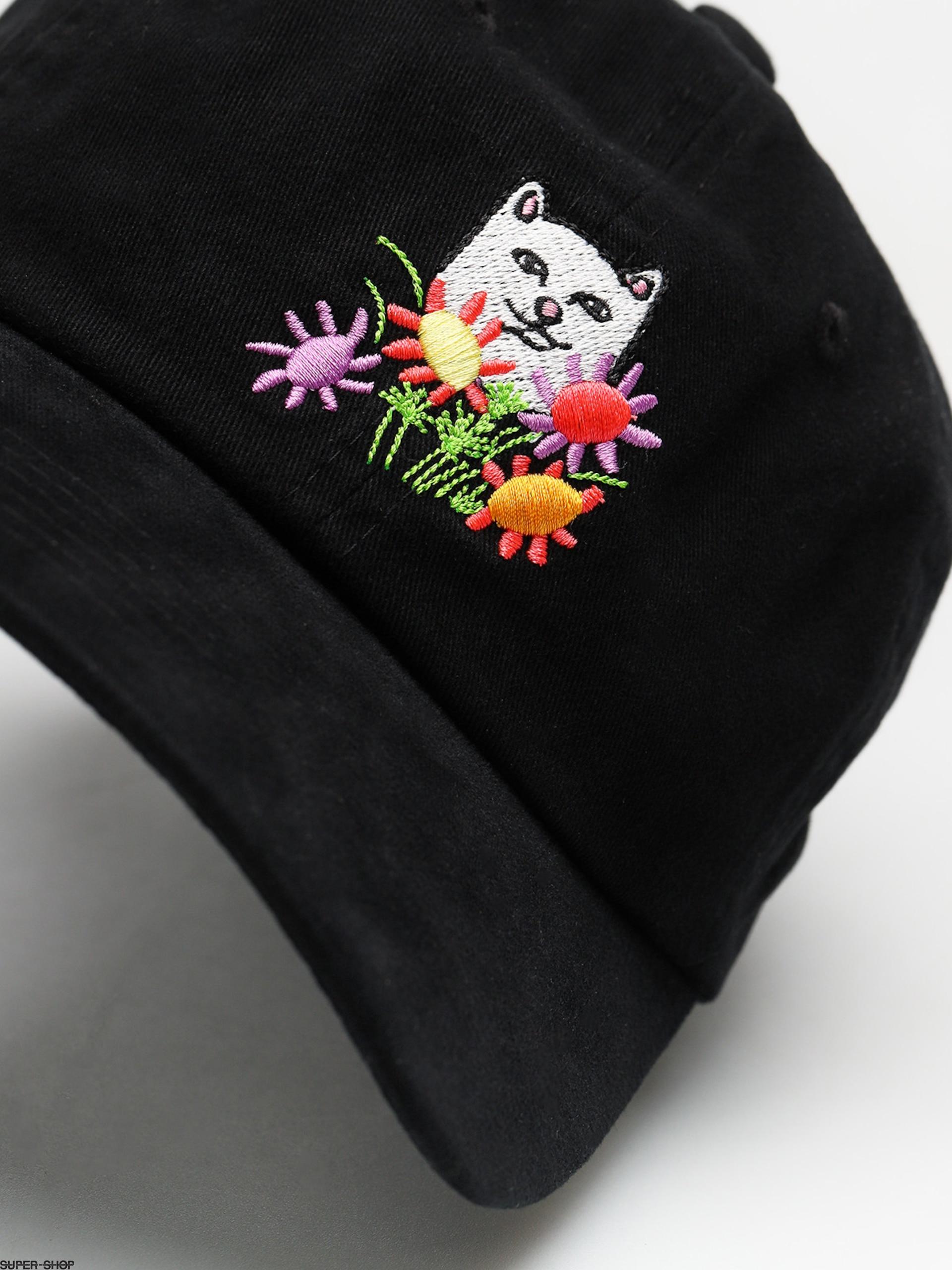 RipNDip Cap Flowers For Bae Overdye Dad Hat ZD (black) 29673e955010