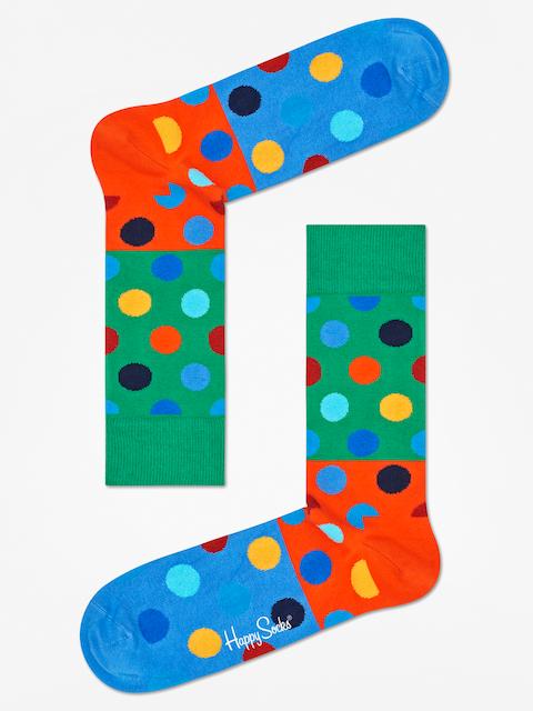 Happy Socks Socken Big Dot Block (green/orange/blue)