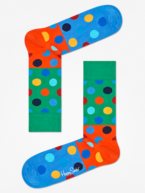 Happy Socks Socks Big Dot Block (green/orange/blue)