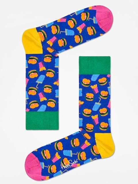 Happy Socks Socken Hamburgers (navy/green/pink)