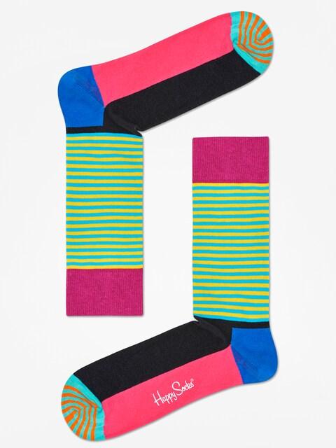 Happy Socks Socken Half Stripe (black pink/multi)
