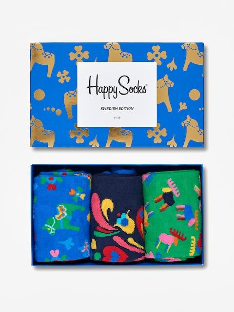 Happy Socks Socks Giftbox 3pk (blue/black/green)