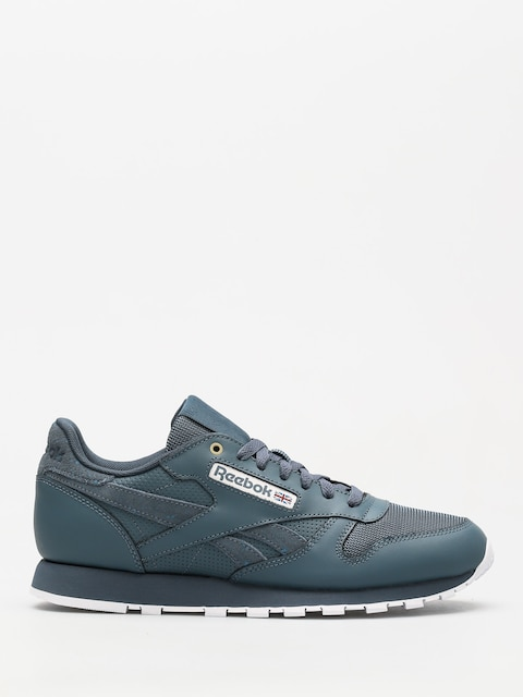 Reebok Shoes Cl Leather Mu (mc deep sea/mt fuji/white)