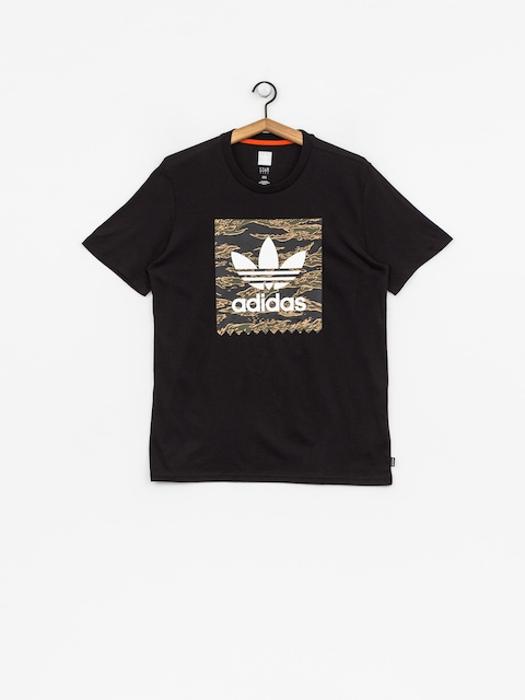 adidas T-Shirt Camo Bb (black/camo print/collegiate orange)