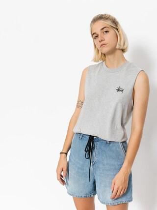 Stussy T-shirt Basic Raw Muscle Wmn (grey heather)