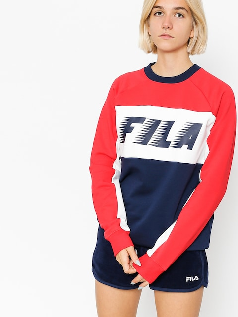 Fila Sweatshirt Layton Colour Block Wmn (peacoat/red/white)