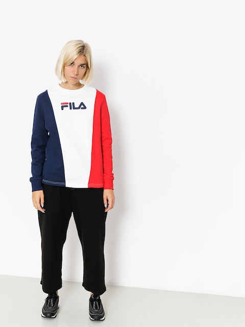 Fila Sweatshirt Sidra Panel Wmn (peacoat/red/white)