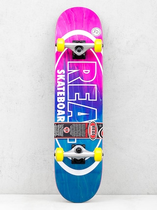Real Skateboard Metallic Oval Fades (pink/teal)